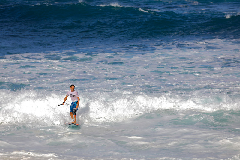 Paddle baorder in the APP World tour surfing competition
