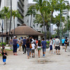 Tourists on Waikiki Beach Hawaii