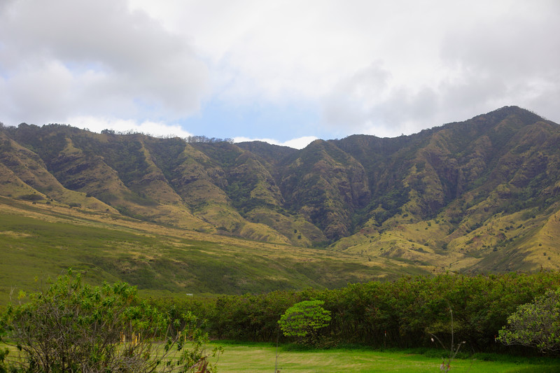 Volcanic landscape Oahu Hawaii