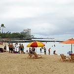 Tourists on Waikiki Beach Hawaii