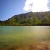 Beach scene in Oahu Hawaii long exposure