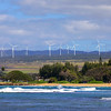 Wind farm in Oahu Hawaii