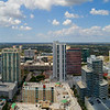 Aerial panoramic photo of Downtown Fort Lauderdale Florida USA