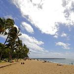 Tourists at Hawaii Waikiki Beach, USA