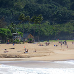 People in Hawaii on the beach