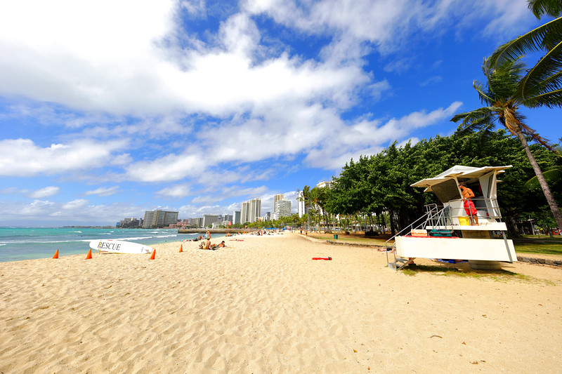 Lifeguard on Waikiki Beach