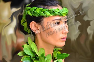Hula dancer Kahianani's face 785s