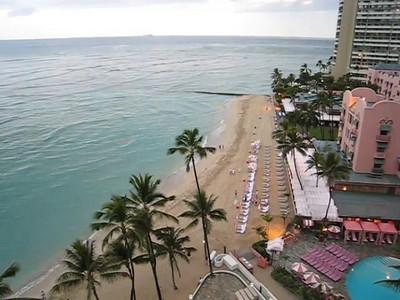 Waikiki Beach from Outrigger lanai
