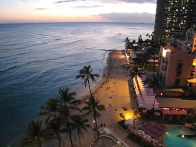 Waikiki Beach at Sunset Mini Movie