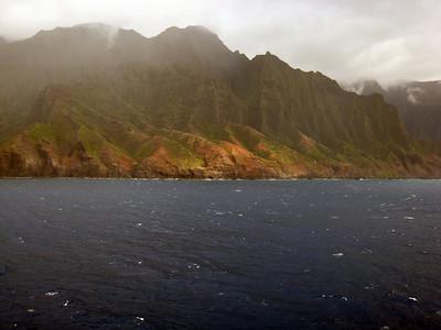 Cruising Napilli Coast of Kauai