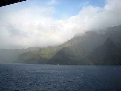 Cruising Napilli Coast of Kauai  - Rainbow