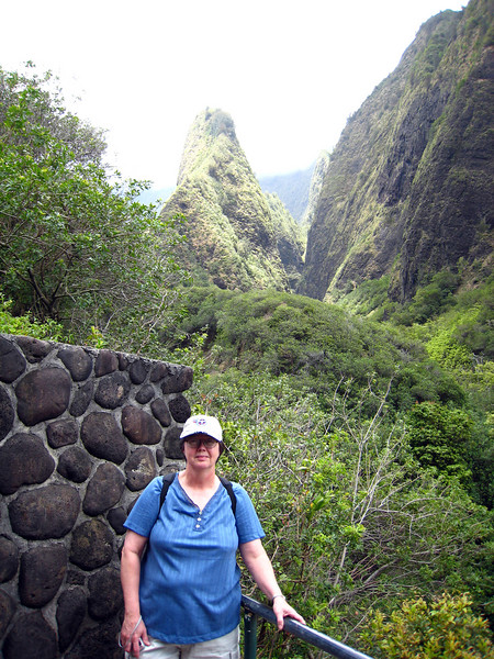 Pat at Iao Needle State Park