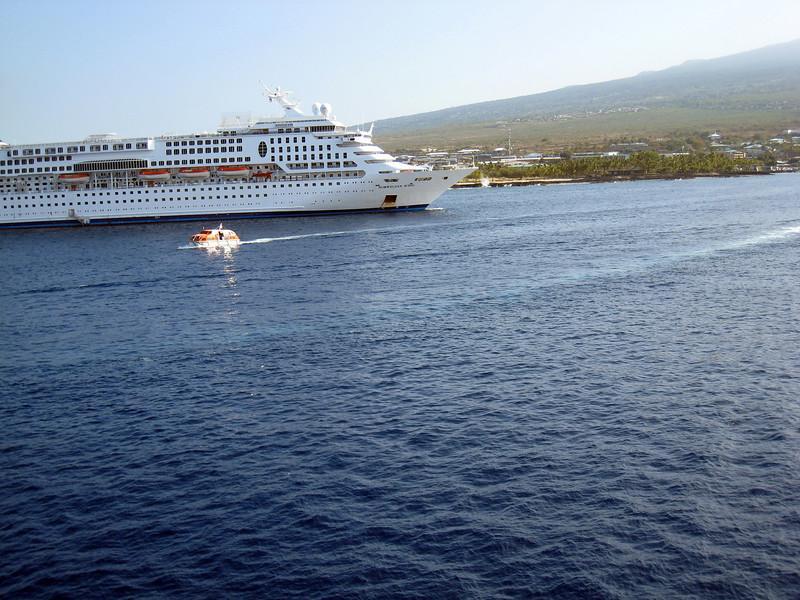 Tendered in Kona - Other Ship is Norwegian Wind