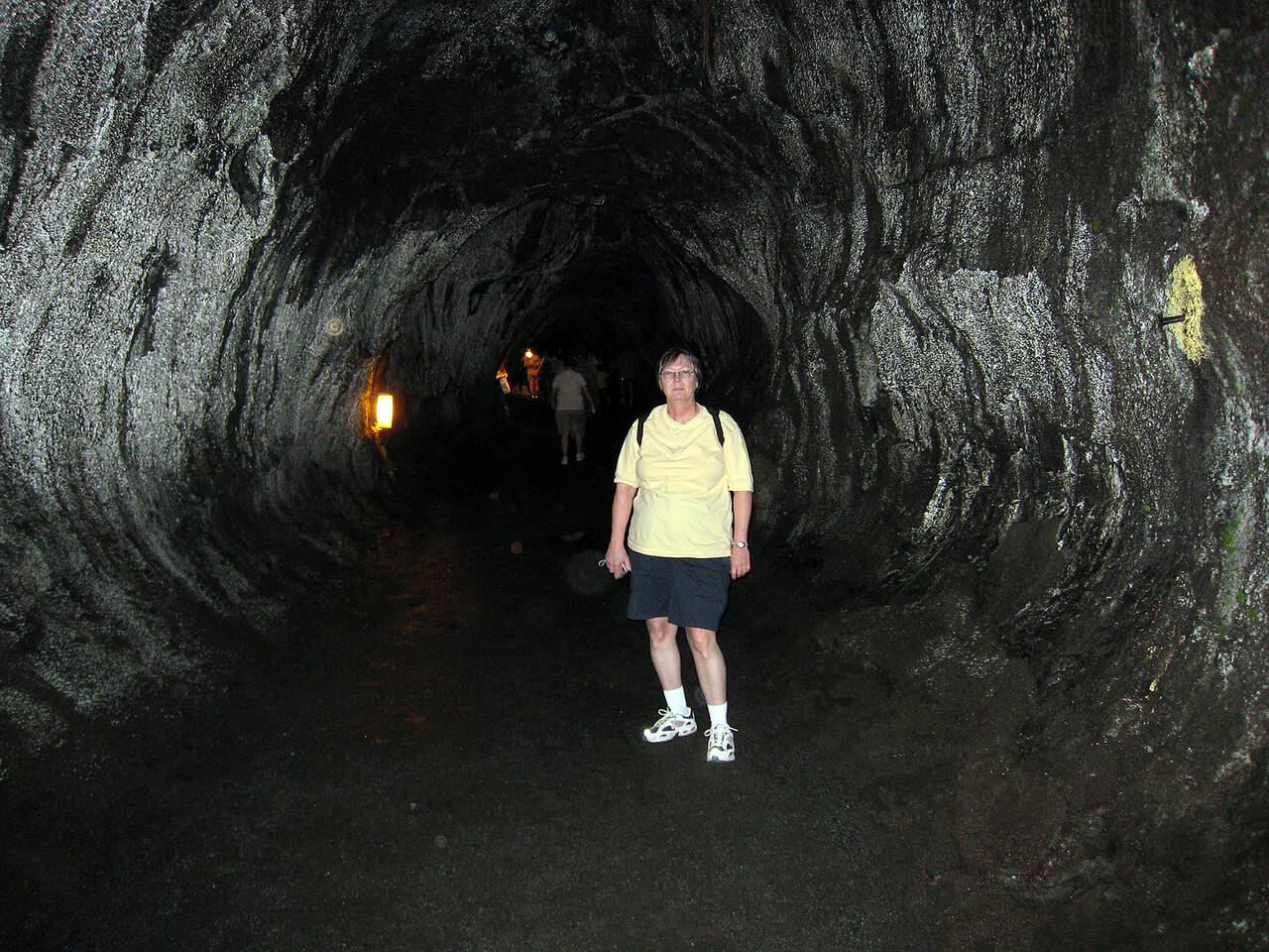 Pat in Thurston Lava Tube