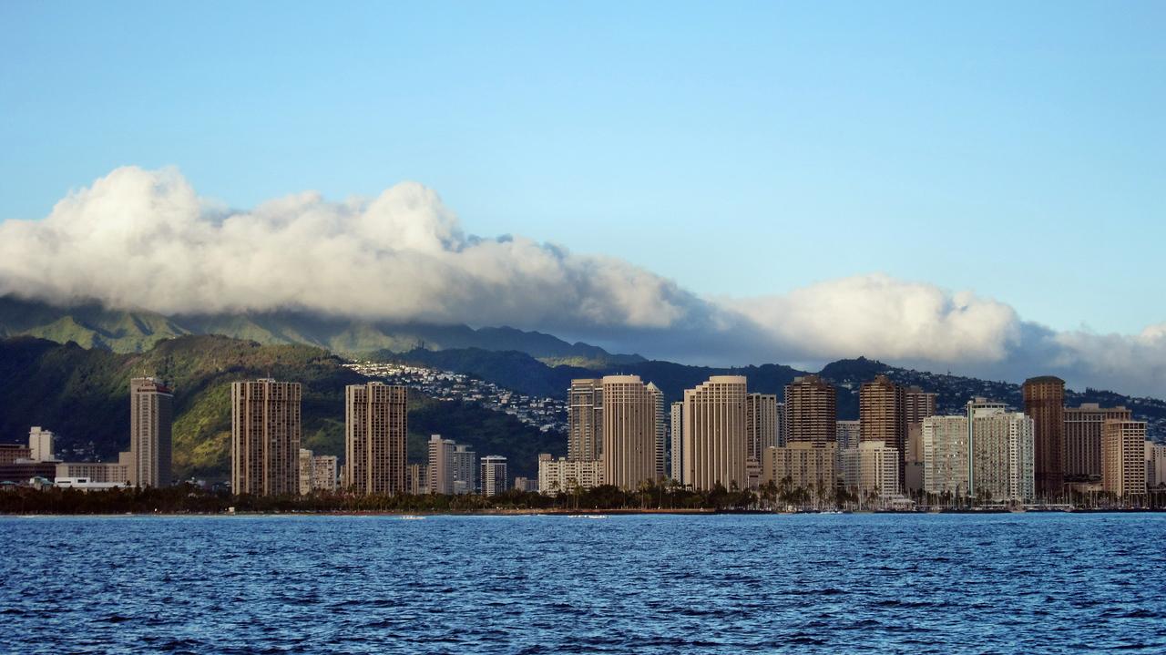 Sunset Cruise on Alii Kai Cataraman along the shore of Waikiki
