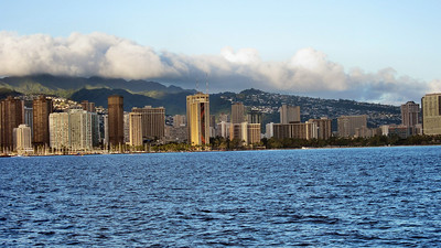 Sunset Cruise on Alii Kai Cataraman along the shore of Waikiki