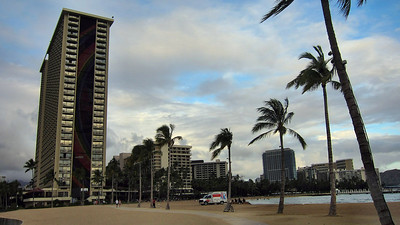 Hilton Hawaiian Village Hotel and surrounding area