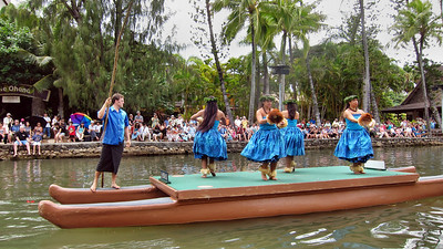 Polynesian Cultural Center on Northeast shore of Oahu