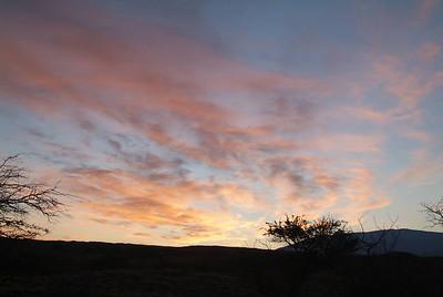Mauna Kea at sunrise as seen from Kohala coast.