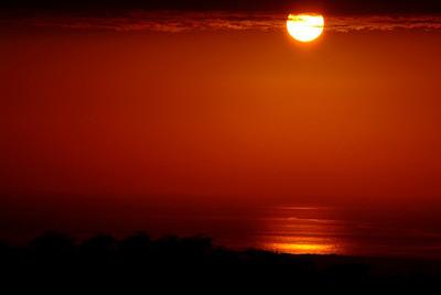 Sunset along the Kohala coast as seen from Waikaloa Village