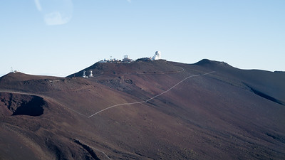 """""""Science City"""" on top of the Haleakala Crater."""