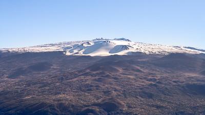 Mauna Kea, the highest mountain in Hawaii.  On Hawaii, the Big Island.