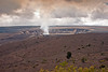 Darkening sky as the explosion calms at Halema`uma`u Crater~Kilauea caldera. Steam vents decreased after explosion.