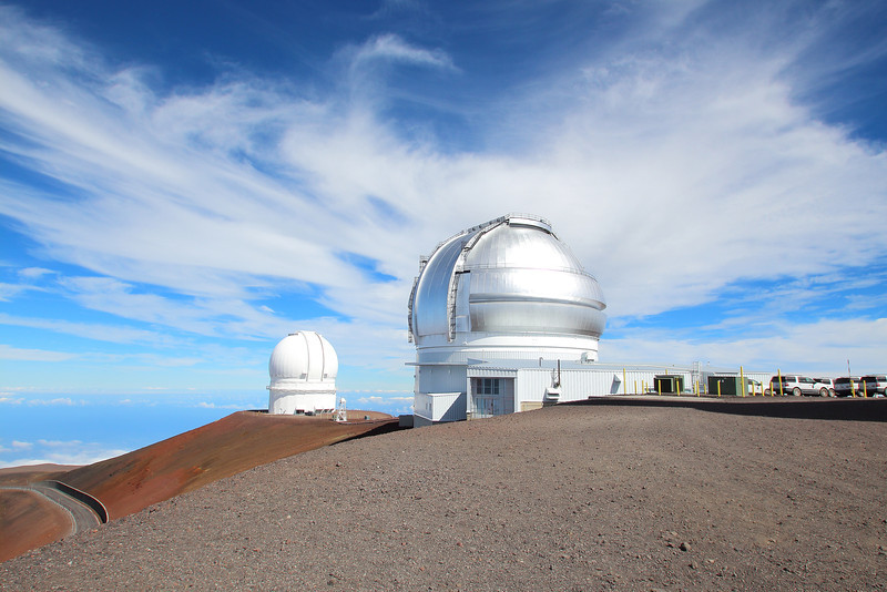 At nearly 14,000ft the summit of Mauna Kea on the island of Hawaii houses the world's largest observatory for optical, infrared, and submillimeter astronomy. This is the Gemini Telescope, an 8.1-meter optical/IR telescope operated by a consortium of seven countries.