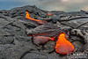 Lava toes near Pu'u O'o lava vent