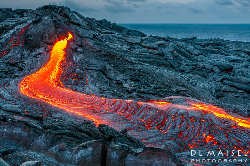 Lava flow near Kalapana