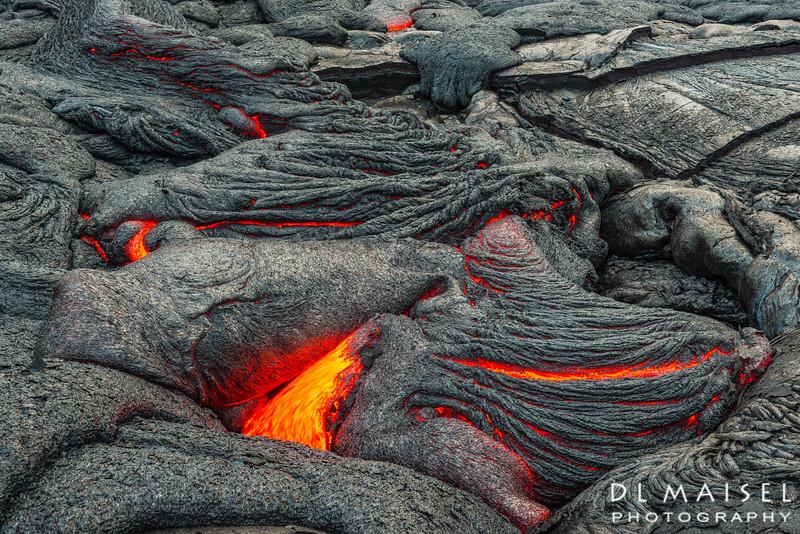 Lava flow near Pu'u O'o lava vent