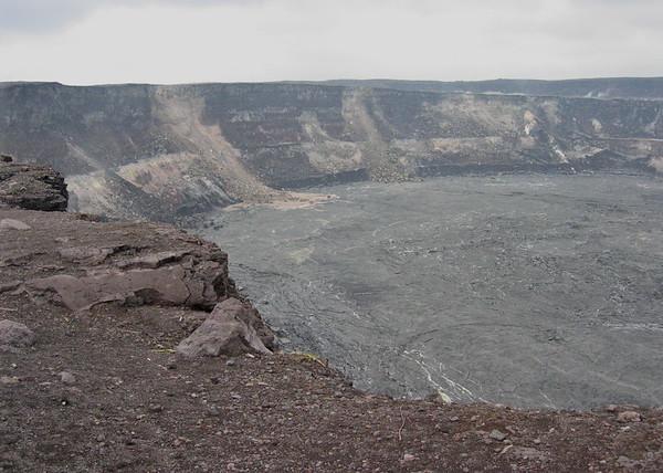 Halema'uma'u Crater in the Kilauea Caldera, Hawaii Volcanoes National Park