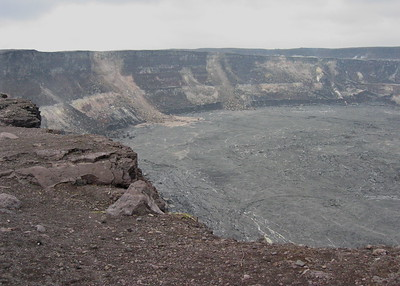 Halema'uma'u Crater in the Kilauea Caldera, Hawaii Volcanoes National Park