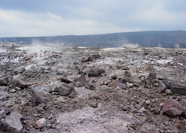 Gases Vent near Kilauea Caldera, Hawaii Volcanoes National Park