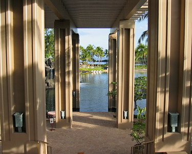 Looking out from the Lobby, Hilton Waikoloa Village, Hawaii