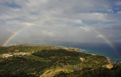Rainbow over Diamond Head Crater  (C) 2009 Brian Neal
