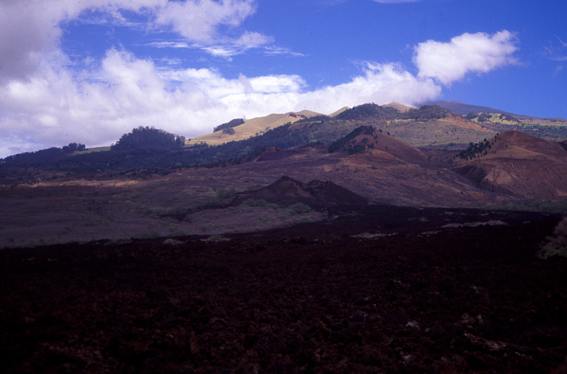 View of the most recent eruption spot on Haleakala that occurred in 1790. #HAL2000-10