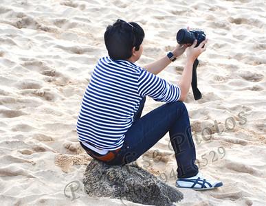 self portrait on beach 012212 92