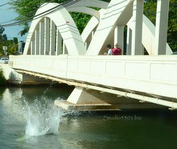 Splash off Haleiwa bridge 072311 14
