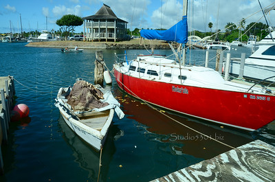 Haleiwa Harbor boats 072311 898