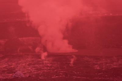 Near-infrared image of the Halema'uma'u vent