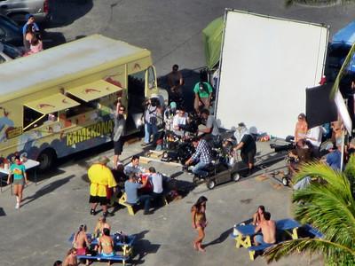 Filming Hawaii 5-0 on site at Hilton Hawaiian Village March 2012