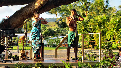 Paradise Cove Luau with Eric, Cristy and Abi Hasha in Hawaii March 15, 2012