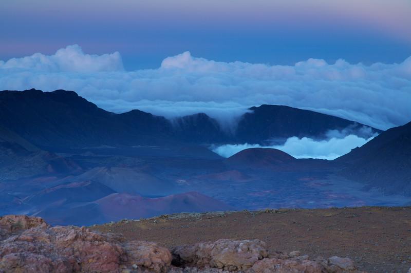 Sunset, Haleakala Crater, Maui, Hawaii