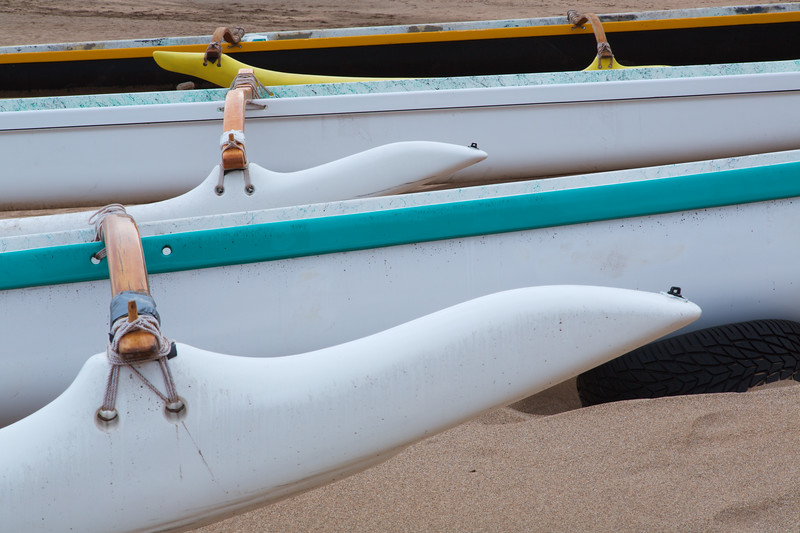 Traditional Hawaiin Canoes, Maui, Hawaii
