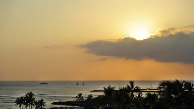 Sunsets and Nighttime at Hilton Hawaiian Village