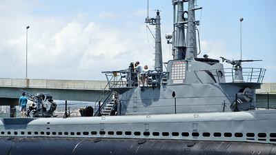 USS Bowfin Submarine at Pearl Harbor in Honolulu, Hawaii.