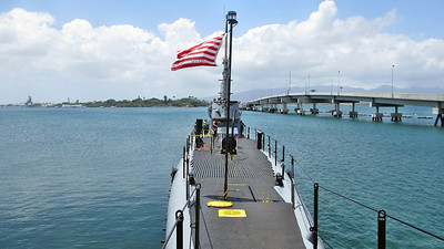 USS Bowfin Submarine at Pearl Harbor in Honolulu, Hawaii.
