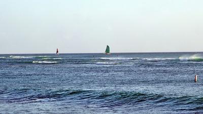 Waikiki Beach area toward Diamond Head away for the Hilton Hawaiian Village
