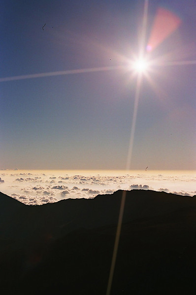 Clouds and Bright Sunlight on Haleakala
